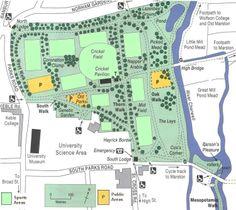 Map Oxford University Parks