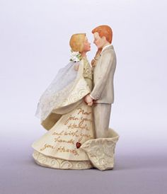 I know people don't use these anymore, but this is so sweet...Bride And Groom Cake Topper - Foundations Angels by Karen Hahn Wedding 4007610   ENESCO