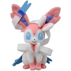 Takaratomy Pokemon Best Wishes Plush Doll - N-50 - Sylveon /... ($19) ❤ liked on Polyvore featuring plushies, pokemon, fillers, stuffed animals and misc