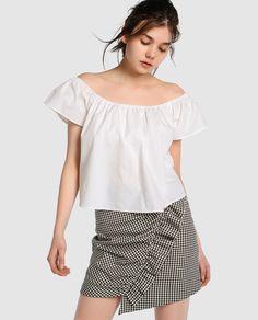 Top de mujer Easy Wear blanco de manga corta
