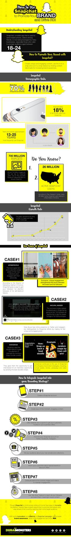 How to Use #Snapchat to Promote Your Brand and Generate Revenue #Infographic #SocialMedia