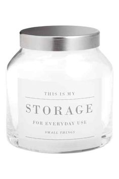 Small glass jar with a lid