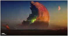 Dark Planet Saga - Mine the moon by MLeth.deviantart.com on @DeviantArt