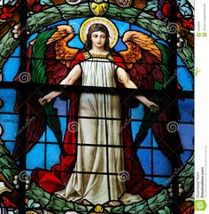 Stained Glass Angel Angel royalty free stock photo