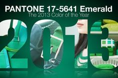 #Pantone Color of the Year 2013 #Emerald #Green