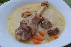 Ciorba acra de gasca (ciorba de potroace) Supe, Cooking Recipes, Beef, Chicken, Food, Meal, Cooker Recipes, Essen, Hoods