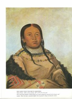 """George Catlin Native American Print """"Red Thing That Touches in Marching 