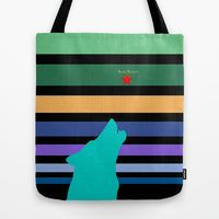 Tote Bag featuring The Wolf by Bwilly Bwightt
