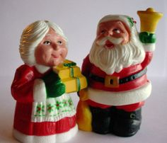 We had these when i was a kid: Vintage Salt and Pepper Shakers  Mr and Mrs Clause