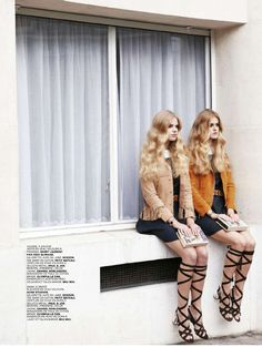 twin set: dana korstenbroek and valerie van der graaf by piczo for jalouse december / january 14.15