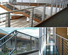 Stainless Steel Railings by ShanesStainless Creatively designed with innovative machines and technology. Stainless Steel Railing, Stainless Steel Tubing, Handrail Brackets, Railings, Creative Design, Deck, Stairs, Technology, Home Decor