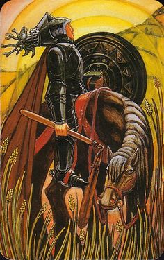 Aleister Crowley Tarot - Knight of Pentacles