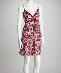 Take a look at this Magenta & Pink Floral Surplice Dress by Jazzy Martini on #zulily today!
