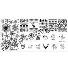 Navidad que estampa la placa L032 navidad del copo de nieve plantilla del sello del arte sello de imagen Plate recién nacidos muy BP-L032 12.5 x 6.5 cm necklace #23268