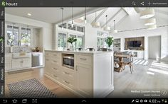 If I built again - kitchen dining and lounge all in a row.  I also want a raked ceiling.