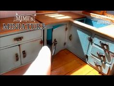 미니어쳐 싱크대만들기 Miniature- Kitchen cabinet - YouTube