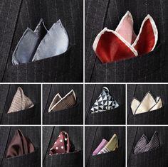 pocket handkerchief folds. Basics.