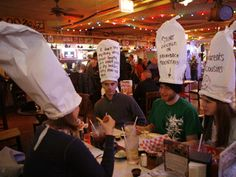 """Dick's last resort restaurant...we ate here at Pier Park...so much fun!!! I even got my own """"hat"""""""