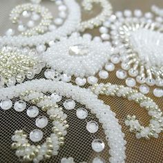 Another #closeup #detail of the #bridal #bodice which will be coming of the…