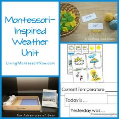 Montessori-Inspired Weather Unit and Weather Blog Hop | LivingMontessoriNow.com