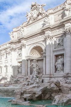 """honey: Photo - when in rome - """"Trevi Fountain, Rome, Italy Rome White Aesthetic, Aesthetic Art, Aesthetic Pictures, Baroque Architecture, Beautiful Architecture, Ancient Architecture, Architecture Details, Photographie Portrait Inspiration, Travel Aesthetic"""