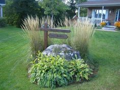 Plant mound for front