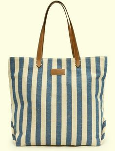 Shopper bag with twin contrast faux leather top handles, embossed MANGO TOUCH logo appliqué at front and inner zip pocket. Canvas Shopper Bag, Hollister Clothes, Striped Canvas, Summer Bags, Spring Summer, Cute Bags, Bag Accessories, Shopping Bag, Vogue