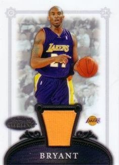 2006 / 07 Bowman Sterling Kobe Bryant Game Worn Jersey Card by Bowman Sterling. $24.95. Own a piece of Kobe Bryant memorabilia! This 2007 / 07 Bowman Sterling card has an authentic piece of a jersey that Kobe Bryant wore during an official NBA event.