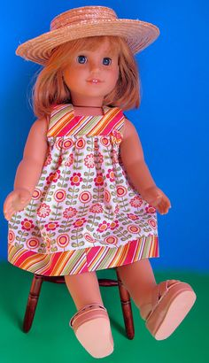 Dress Pattern PDF for American Girl  18 inch Doll by tiedyediva, $3.50