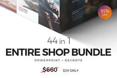 44 in 1 ENTIRE SHOP BUNDLE by Dublin_Design on @creativemarket | Powerpoint Kenote | Graphic Design resources