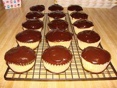 Boston Cream Cupcakes. Boston Cream Cupcakes, Cheesecake, Muffin, Breakfast, Desserts, Food, Morning Coffee, Tailgate Desserts, Deserts