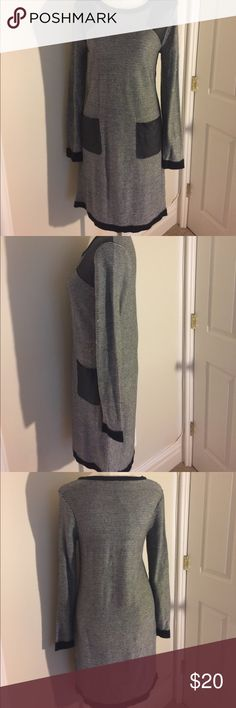 """The wool Simone sweater dress FINAL SALE  Wool Simone sweater dress with """"soft leather like"""" pockets and shoulder patches.  Attractive and perfect for fall!! W118 by Walter Baker Dresses Midi"""