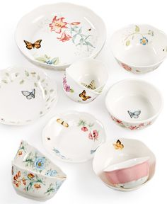 Lenox Butterfly Meadow Bowls Collection - Dinnerware - Dining & Entertaining - Macy's