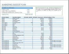 Awesome Project Management Budget Template Excel Images