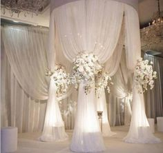 Online Shop adjustable white diameter tall double circle double upright of wedding pipe and drape pavilion for wedding arch, chuppah Wedding Ceremony Ideas, Ceremony Decorations, Wedding Venues, Wedding Ceremonies, Reception Ideas, Wedding Reception Decorations Elegant, Wedding Ceiling Decorations, Reception Design, Outdoor Decorations