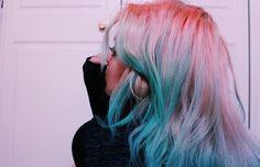Green Hair, Blue Hair, Ombre Hair Color, Dye My Hair, Aesthetic Hair, Trendy Hairstyles, Hair Inspiration, Short Hair Styles, Hair Makeup