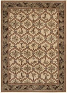 Turn Any Room Into Your Tropical Paradise With The Palm Frenzy Area Rug. It  Features