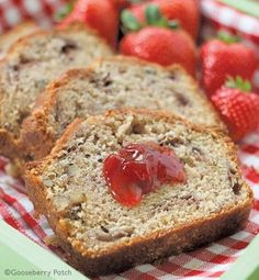 Gooseberry Patch Recipes: Fresh Strawberry Bread. Love this with cream cheese or fresh strawberry jam.