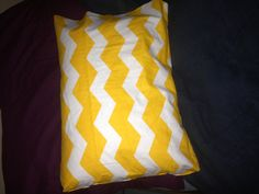No sew pillow cover! Done with fabric glue :) easy peasy!