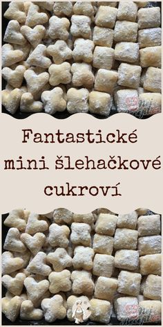 Fantastické mini šlehačkové cukroví Food And Drink, Sweets, Baking, Breakfast, Cake, Desserts, Recipes, Morning Coffee, Pastel