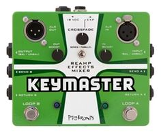 """Pigtronix Keymaster Dual true bypass Fx loop Swiss Army Knife """"there is no Dana, only Zuel"""" Line Level, Electronics, Learning, Mixer, Music Store, Guitar Pedals, Recording Studio, Swiss Army, Tilt"""