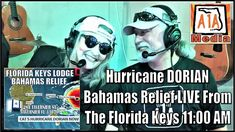 Hurricane DORIAN Bahamas Relief Update with Harry Teaford. LIVE at Florida Keys Lodge in Tavernier, Florida Keys. Become a Patron of the Key West Florida, Florida Keys, Category 5 Hurricane, Digital Media, Social Media Marketing, Special Events, How To Become, Paradise, Live