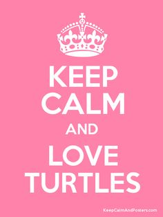 Keep Calm and LOVE TURTLES Poster