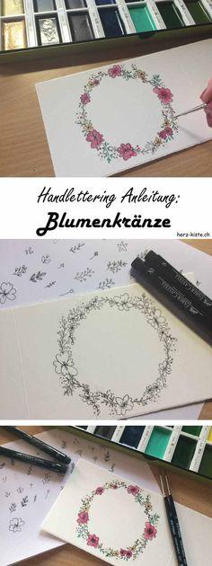 In dieser Handlettering Anleitung erfährst du, wie du ganz einfach Blumenkränze zaubern kannst. Mit solchen Blumenkränzen bringst du dein Lettering sofort auf ein neues Level.
