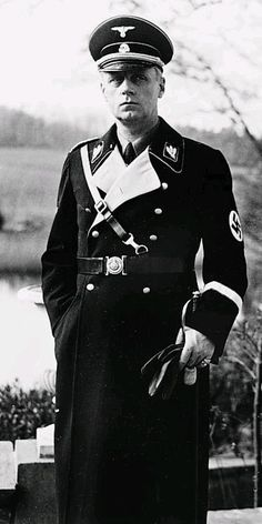 "Ribbentrop, Hitler's foreign minister, was an early friend of Heinrich Himmler, who offered him an ""honorary"" SS rank. Joachim Von Ribbentrop, Ww2 Uniforms, Man Of War, The Third Reich, Army Uniform, World History, Military History, World War Two, German Army"