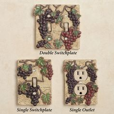 Switch Plates For Your Wine/grape Theme