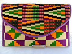 Bright Colored Afrocentric Clutch by SewSophistikated on Etsy