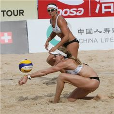 Kerri Walsh & Misty May-Treano Beach Volleyball Girls, Usa Volleyball, Female Volleyball Players, Usa Sports, Sports Women, Laura Ludwig, Kerri Walsh Jennings, Beach Games, Woman Beach
