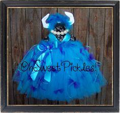 Deluxe - SULLY MONSTERS INC Inspired - Halloween Costume Tutu Dress & Headband - Sizes 0, 3, 6, 9, 12, 18, 24 Months, 2t, 3t, 4t, 5t Halloween 2013, Halloween Candy, Halloween Outfits, Halloween Decorations, Halloween Costumes, Halloween Ideas, Little Girl Halloween, Little Girl Tutu, Little Girls