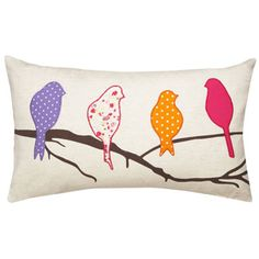 Cute pillow, but I'd make the birds in different colors.